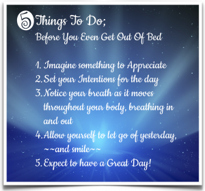 5 things before you get out of bed